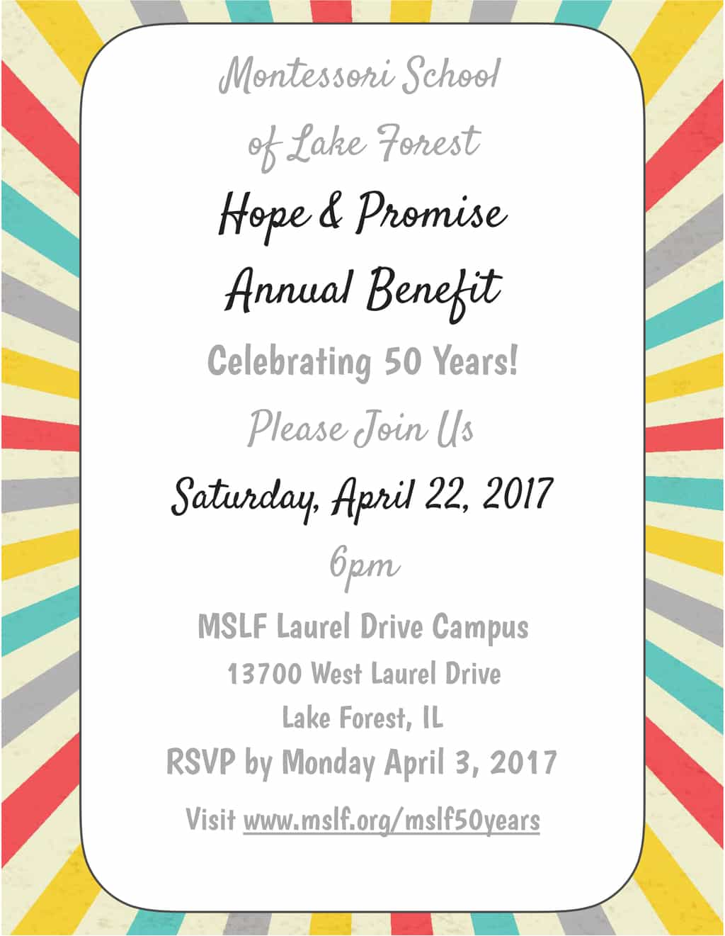 Hope & Promise Annual Benefit - Celebrating 50 Years @ Laurel Drive Campus | Lake Forest | Illinois | United States