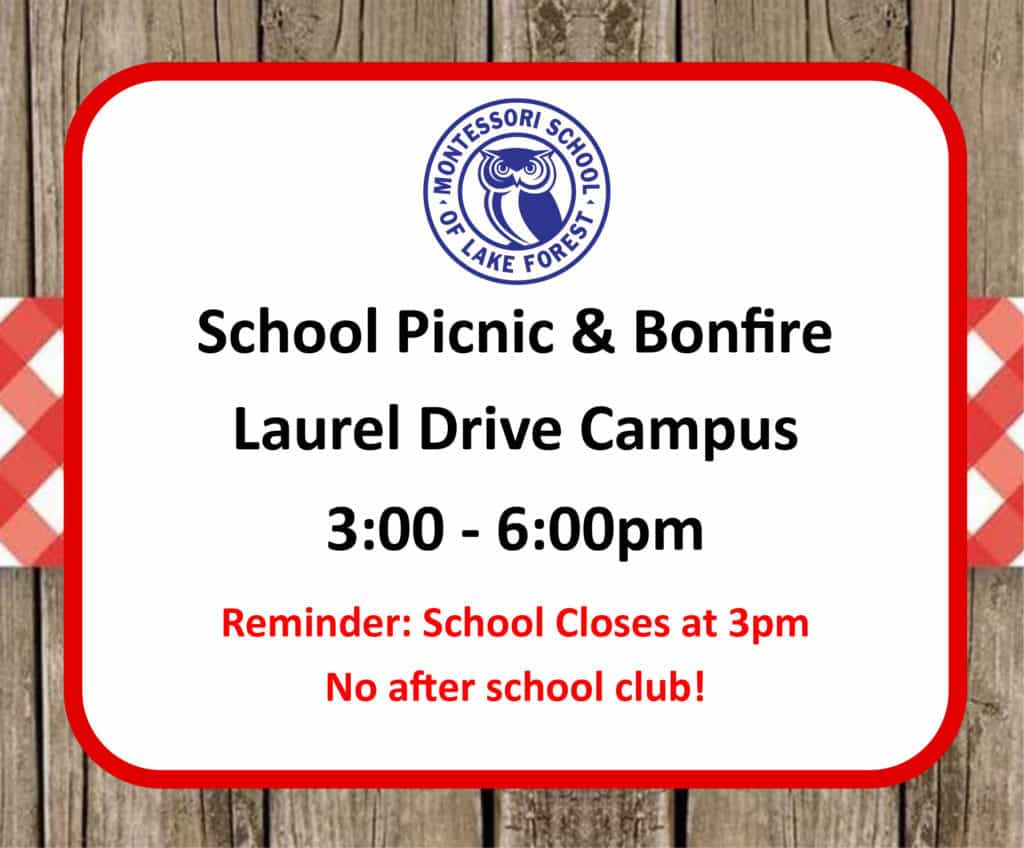 School Picnic & Bonfire @ Laurel Drive Campus | Lake Forest | Illinois | United States
