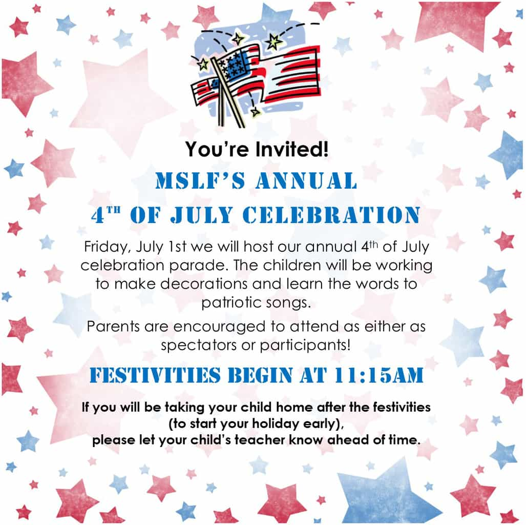 Annual 4th of July Celebration