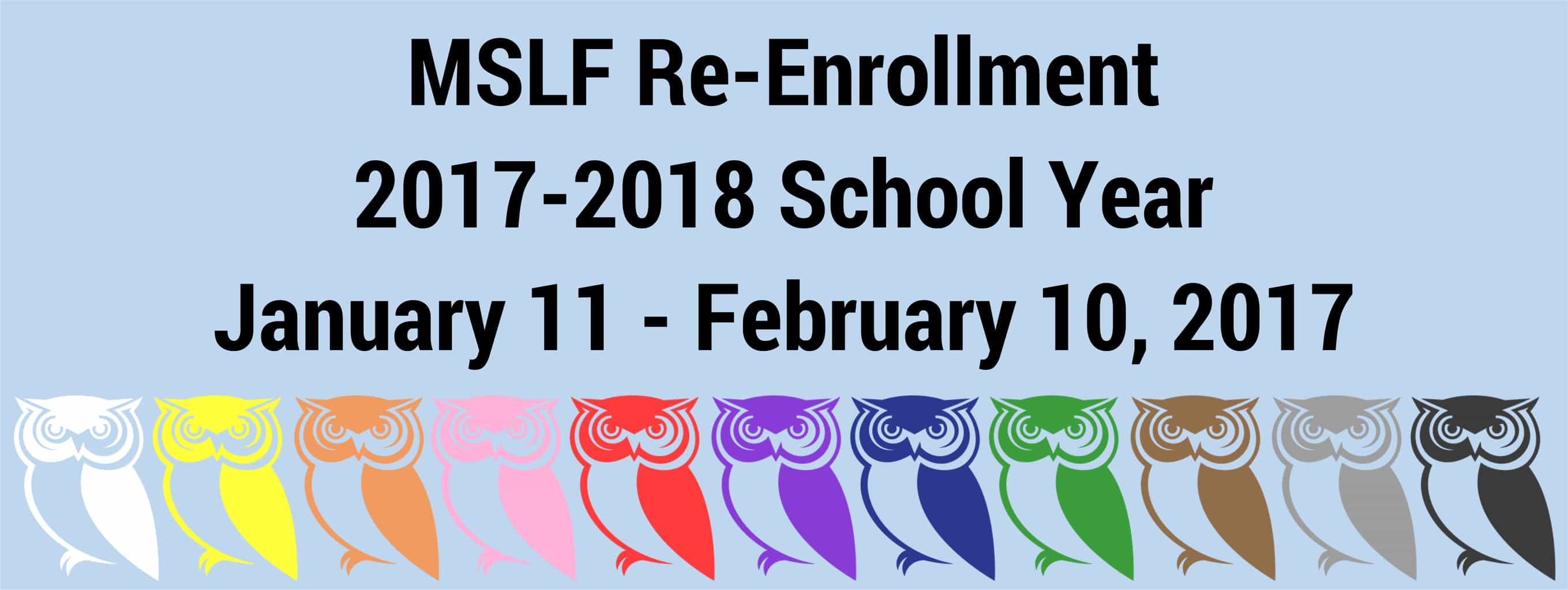 Re-enrollment For 2017-2018 School Year