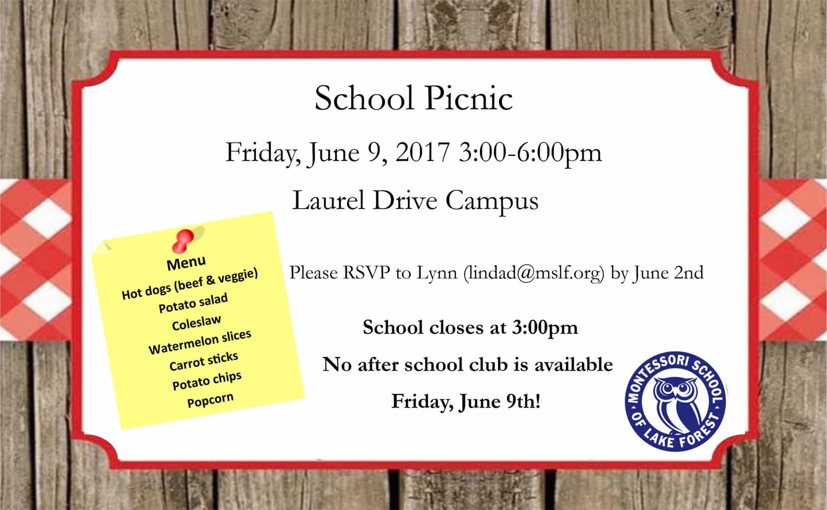 School Picnic @ Laurel Drive Campus | Lake Forest | Illinois | United States