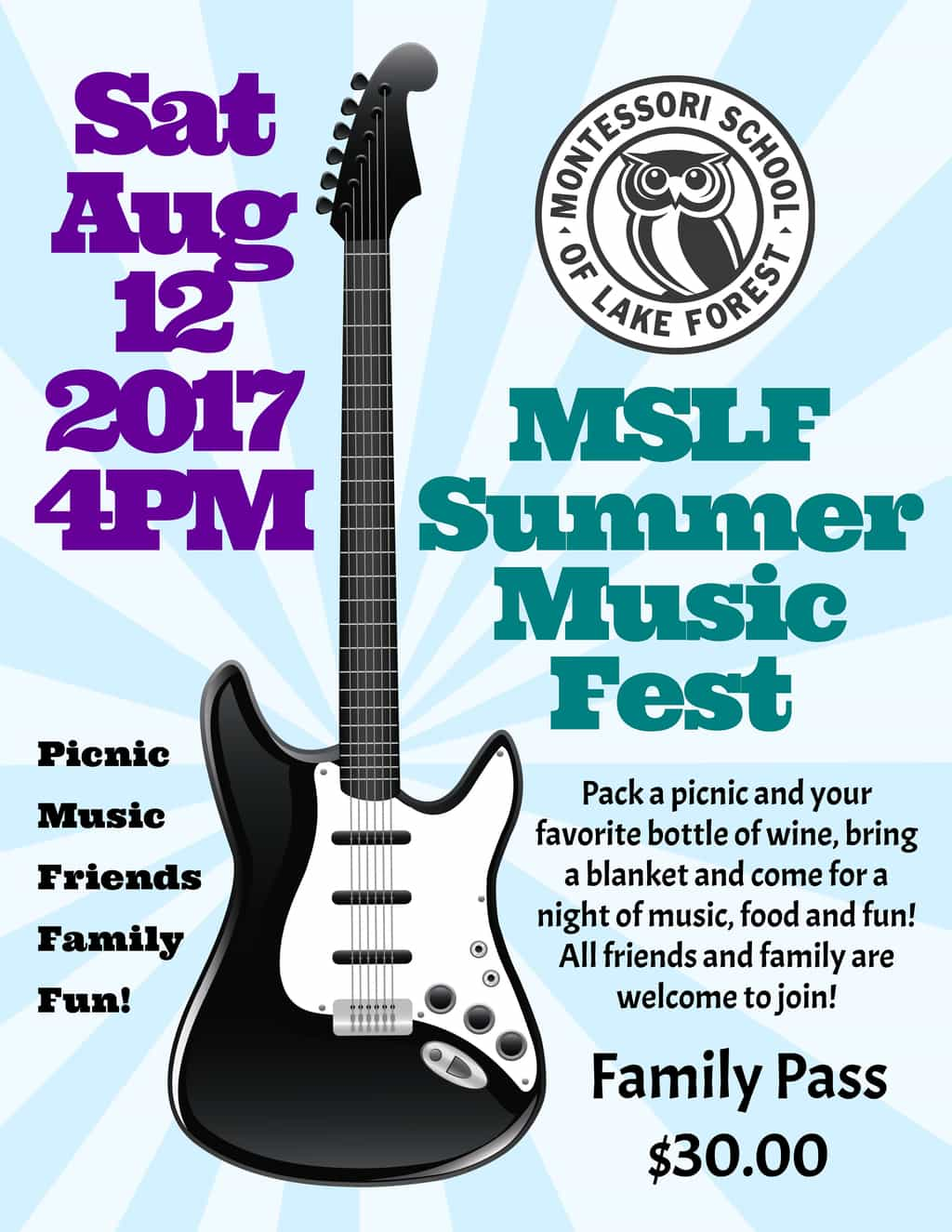 MSLF Summer Music Fest - PUBLIC WELCOME! @ Laurel Drive Campus | Lake Forest | Illinois | United States