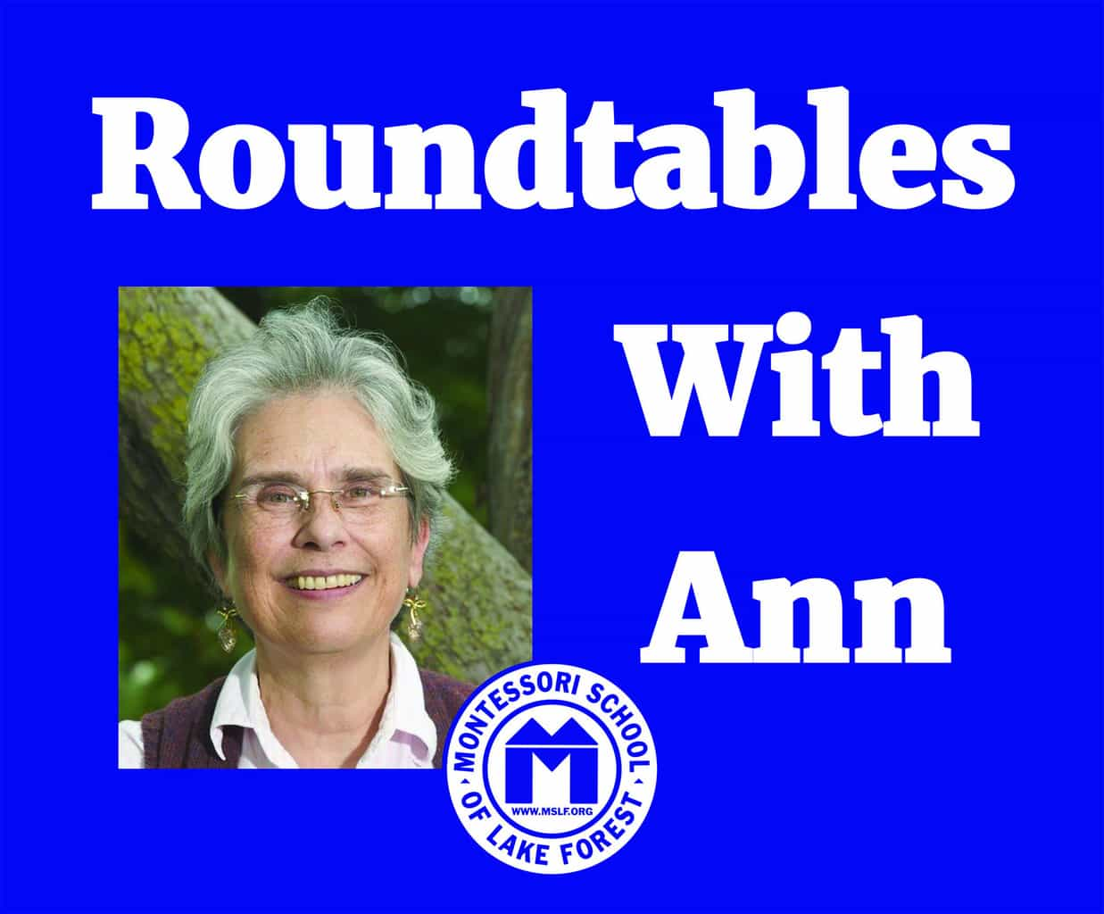 Roundtables with Ann: Toddler Division @ Laurel Drive Campus | Lake Forest | Illinois | United States